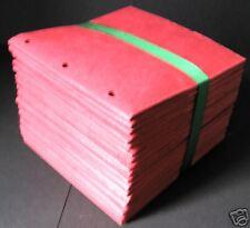 Lot 20 Red 6x6 Sewn Paper Bag Scrapbook Albums/piecing