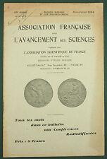 BULLETIN POUR L'AVANCEMENT DES SCIENCES - 1934 N° 122 - BIOMETEOROLOGIE GEOLOGIE