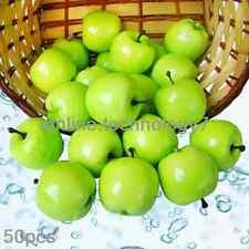 50 pcs fake Green Mini Apples Plastic artificial fruit House Party kitchen decor