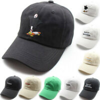 Women Men Snapback Baseball Cap Cotton Hip Hop Cartoon Visor Dad Hat Adjustable