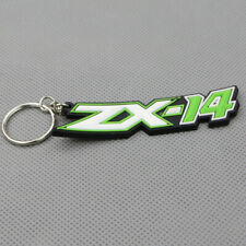 Motorcycle Rubber Keyring Key Ring Keychain Key Chain Green For Kawasaki ZX 14