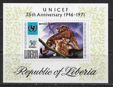 LIBERIA , UN , 1971 , UNICEF , SOUVENIR SHEET , PERF , MNH , CV$3