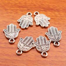 20Piece 17*13mm hamsa Hand Charms Tibetan Silver DIY Jewelry Making bails 7024BB