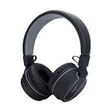 RockPapa Foldable Wireless Bluetooth Headphones for iPhone SmartPhone Black Grey