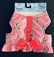 NWT Simply Wag PINK SNOWFLAKES CHRISTMAS CANDIES Size SMALL Dog Harness SO CUTE!