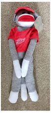 "Detroit Red Wings NHL HOCKEY SU GHIACCIO JERSEY 20 ""DA APPENDERE GIOCATTOLO SOCK Monkey"