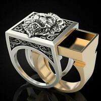 Mode Löwe Silber Herren Ring Herren Party Ring Geschenk Größe 7-13 M2T4