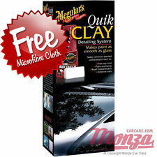 Meguiars Car / Motorbike Clay Bar Paintwork Cleaning Kit **FREE POLISH CLOTH**
