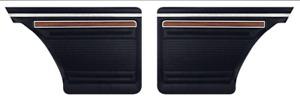 1970-1972 Chevy Nova Custom Inner Rear Panels Assembled Black PUI