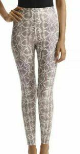Commando White Faux Snake Leather Print Leggings Women's Size Small SLG 50 NWT