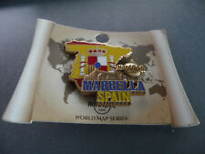 Hard Rock Cafe Marbella Spain - World Map - 3D HRC Series Country Flag 2017 Pin