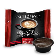 100 CAPSULE CAFFE' BORBONE DON CARLO MISCELA ROSSA COMPATIBILI A MODO MIO
