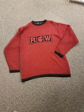 RocaWare Men's Large Red & Black Pullover Sweater NWOT