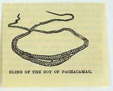 small 1883 magazine engraving ~ BOY'S SLING, PACHACAMAC Peru