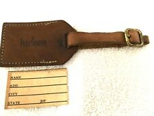 Hartmann Luggage Belting Leather Address Hang Tag