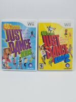 Just Dance Kids 1 & 2 Nintendo Wii Lot Complete Tested