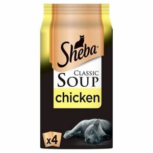 6x Sheba Classic Soup Cat Pouch with Chicken Fillets 4 x 40g
