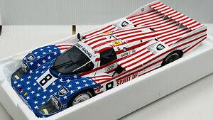 """Minichamps 1/18 Porsche 956L """"Stars + Stripes"""" Follmer 24H Le Mans 1986 New"""