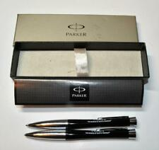 Parker Urban Lacquer Black & Chrome Set Gel Pen & 0.5mm lead Pencil w/box papers