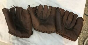 MORT COOPER RAWLINGS LOT OF THREE EARLY 1950'S BASEBALL GLOVES