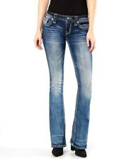 New Buckle Rock Revival Beliss Boot Bootcut Dark Stretch Denim Jeans 28 x 30
