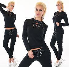 2 PC Hoodie Tracksuit Jogging Sweatshirt Pants Sets Black Leisure Suit HOT