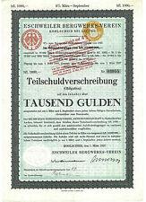 Eschweiler Bergwerks-Verein Kohlscheid Anleihe 1927 Aachen Herzogenrath Bergbau
