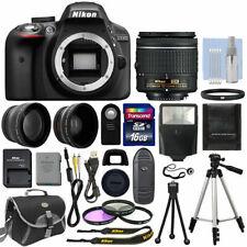 Black + 3 Lens: 18-55mm Lens + 16GB Bundle Nikon D3300 Digital SLR Camera