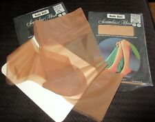 2 Vintage Kresge Nylon Garter Stockings Size 9 1/2  Color is Tender Beige