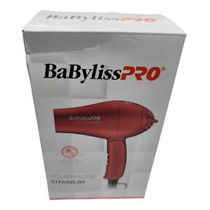 BaByliss Pro TT Tourmaline Titanium Travel Dryer, BTT053TUC, Red