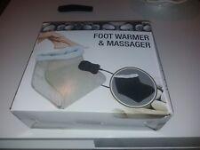 Electric Heated Comfort Fleece Suede Comfy Foot Massager Warmer Serenity Beauty