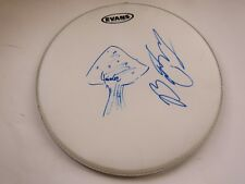 "Allman Brothers Butch Trucks Signed 14"" Drum Head W Jaimoe Nice Mushroom Drawing"