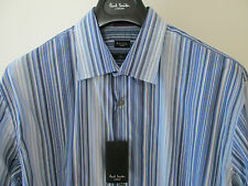 "Paul Smith LONDON MUCHAS FRANJAS CORTE AJUSTADO 16.5"" EXTREMADAMENTE RARO CAMISA"