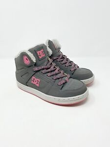 Infant Size 5 Skate Shoes BNWB Girl/'s DC Trace Trainers Grey//Pink