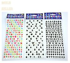 Letter Alphabet Number Sticker Sheet A-Z 0-9 Melbourne