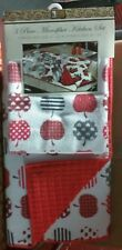 3 pc Set: Kitchen Microfiber Drying Mat and 2 Same soft Towels (16x19) APPLES,BH