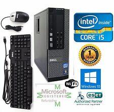 Dell Desktop Computer Intel Core i5 3.40 Windows 10 pro 64 500gb HD 4gb Ram