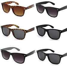 Black Vintage Designer Classic Sunglasses Retro Women Men 80's