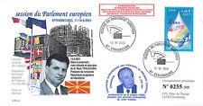 """PE434T2 FDC Parlement européen """"Shimon PERES, Israël / Boris TRAJKOVSKI"""" 06-2001"""
