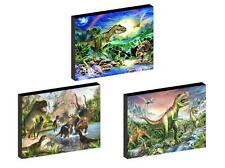 3 x DINOSAURS  CANVAS ART BLOCKS/ WALL ART PLAQUES/PICTURES
