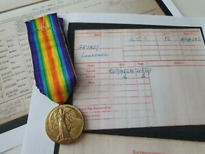 WW1 Victory Medal to Private Grundy, A.S.C