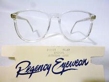 Regency By Tart Optical Vintage Unisex Eyeglass Frame SH3012 Crystal 56-17 - NOS