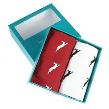 Red & White Leaping Hare Handkerchief Gift Set (66-HR-35)
