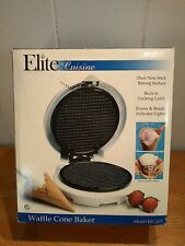 Elite Cuisine Waffle Cone Baker Maker Iron Ice Cream by Maxi-Matic NEW