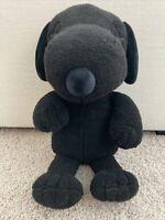 """Uniqlo Kaws x Peanuts Black Snoopy Plush 21"""" Laying"""