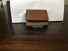 New Womens Fossil Brand Leather Sofia Mini Wallet Medium Brown NWT $50