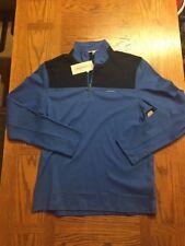 Mens Liquid Touch Cavin Klein Half Zip Long Sleeve Shirt Nwt Light Blue Business