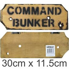 Military Wooden Wall Sign Bombsite Sniper Keep out Mines Kids Army Den Bedroom Command Bunker