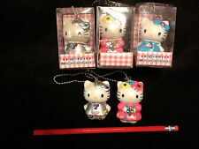 CHOOSE ONE~SANRIO KITTY Ceramic Rinestone Collector Key Chain Japan-ship free