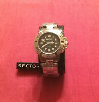 SECTOR 240 E-XT Watch sapphire crystal orologio uomo in acciaio 47 mm. NUOVO
